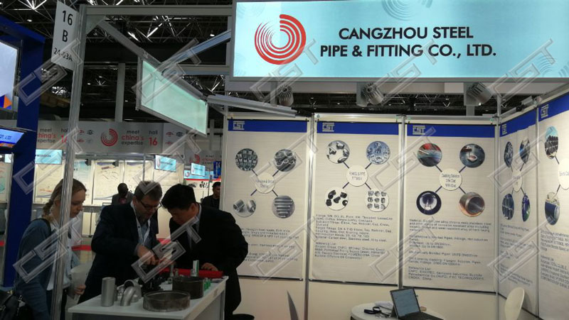 Cangzhou Steel Pipe Fittings CO.LTD attended the Tube Wire Dusseldorf 2018